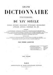 Larousse - Grand dictionnaire universel du XIXe siècle - A-Am