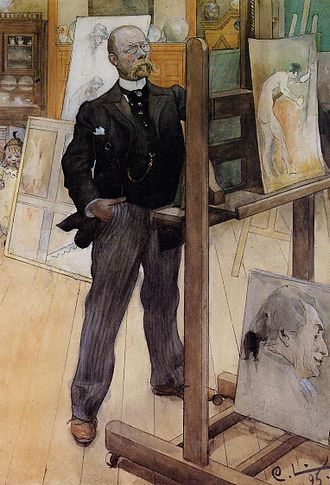 Carl Larsson - Self-portrait (1895)