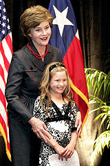 Laura Bush and Rae Leigh Bradbury