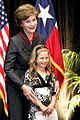 Laura Bush & Rae Leigh Bradbury, 2007Apr04.jpg