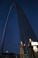 Laura Bush William McNamara Arch Lighting Breast Cancer Awareness 20061012.jpg