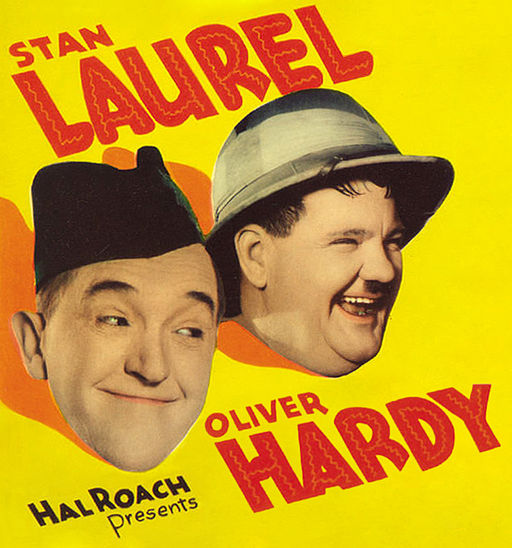 Laurel and Hardy (from Bonnie Scotland)