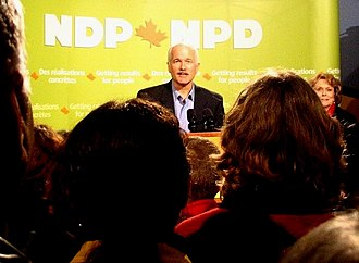 Jack Layton - Jack Layton speaks at an NDP Rally in Courtenay, British Columbia the night of January 12, 2005