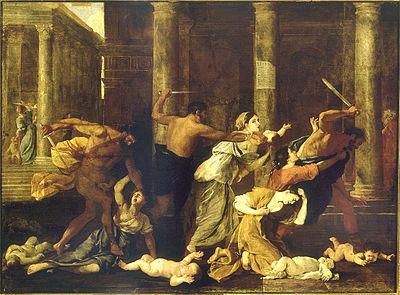 28 décembre Les Saints Innocents 400px-Le_Massacre_des_innocents_-_Nicolas_Poussin_-_Petit_Palais_-_1626-1627
