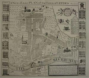 History of Leeds - A 1725 map of Leeds