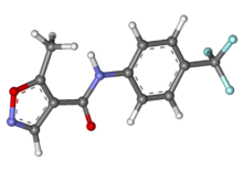 Leflunomide ball-and-stick.png