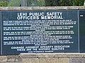 Lehi Public Safety Officers Memorial plaque, Lehi, Utah, Oct 16.jpg