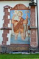 Lesachtal Liesing Pfarrkirche hl. Nikolaus Christophorus-Fresko 16072014 501.jpg