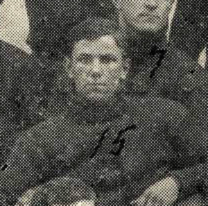1908 College Football All-Southern Team - Lew Hardage at Auburn, 1908.
