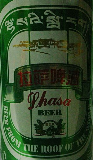 Beer in Tibet - Lhasa Beer, the only Tibetan beer on the world market