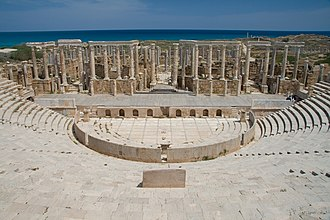 Tourism in Libya - The theatre at Leptis Magna