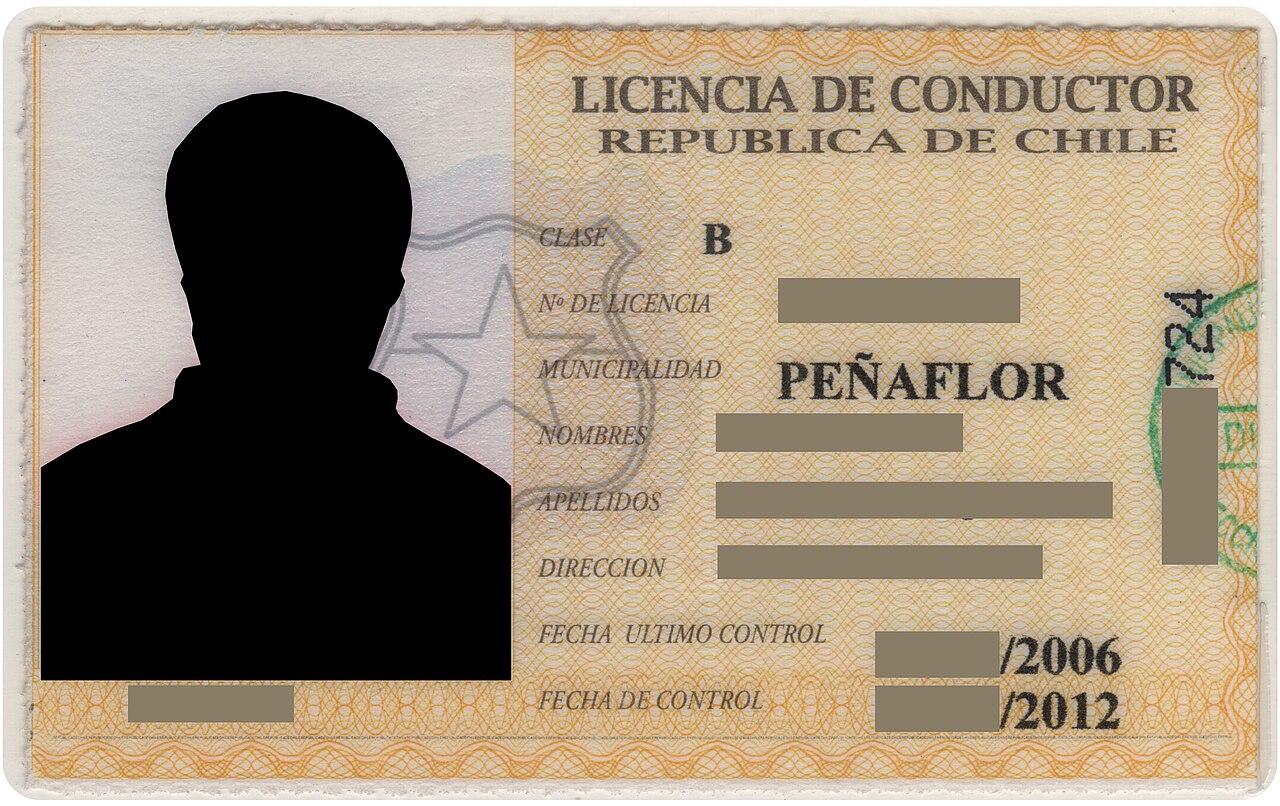 Licencia De Conducir: Archivo:Licencia Conducir Chile.jpg