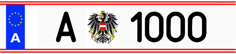 File:License plate of the president of Austria A 1000.png