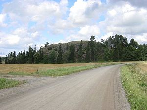Old Castle of Lieto - Old Castle of Lieto in August 2007 seen from the ancient road, Hämeen härkätie, which passes the hillfort site.
