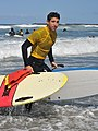 Life Guard Exits as Surf Lesson Starts (34127946220).jpg