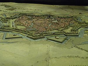 Siege of Ath (1697) - Plan-relief of Ath constructed in 1697 after its capture