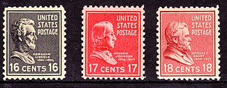 Commemoration of the American Civil War on postage stamps - Lincoln, Johnson, Grant