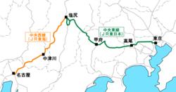 中央本線の路線図 : 東海地区 地図 : すべての講義