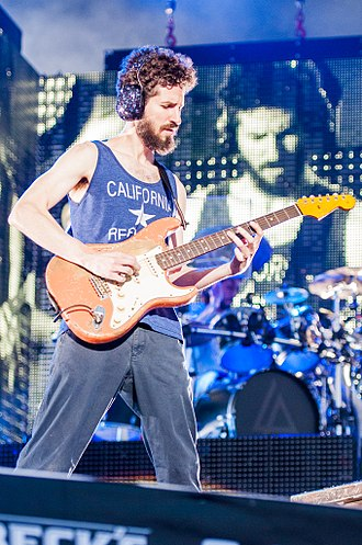 Brad Delson - Delson performing with Linkin Park at Rock im Park in June 2014