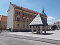 Listed high school building and Well house in Keszthely, 2016 Hungary.jpg