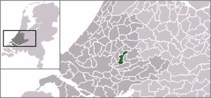 Gouderak - Image: Locatie Ouderkerk