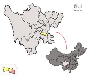 Fushun County, Sichuan County in Sichuan, Peoples Republic of China