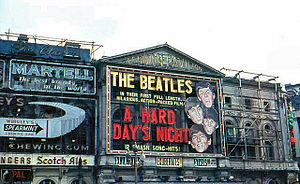 London Pavilion - London Pavilion Theatre showing 'A Hard Day's Night' in 1964