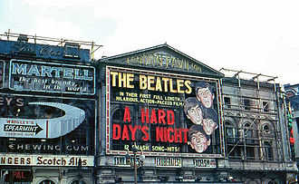 London Pavilion - London Pavilion Theatre showing A Hard Day's Night in 1964