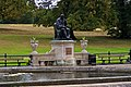 London - Kensington Gardens - Italian Gardens - View ESE towards statue of Dr. Edward Jenner 1862, who found the cure for smallpox.jpg