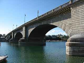 London Bridge (Lake Havasu City) bridge in Lake Havasu City, Arizona, USA