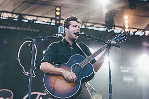 Lord Huron performing at Loufest 2015 (Ben Schneider pictured)