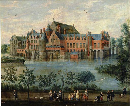 Los Archiduques Isabel Clara Eugenia y Alberto en el Palacio de Tervuren en Bruselas (Museo del Prado)