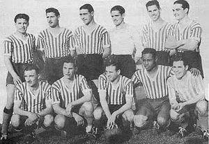 Club Atletico Los Andes - The 1938 team, which achieved the Primera C championship that year.