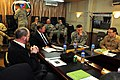 Lt. Gen. William B. Caldwell IV, commander NATO Training Mission - Afghanistan, meets with the Honorable Michael Donley, Secretary of the Air Force, at Camp Eggers. (4330616392).jpg