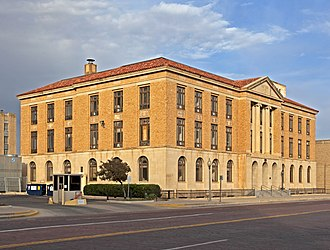 Lubbock Post Office and Federal Building, constructed in 1932. Lubbock Texas Old Federal Courthouse.jpg