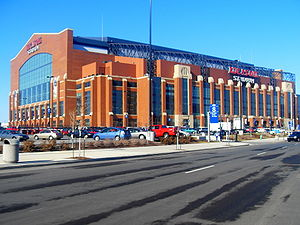 Das Lucas Oil Stadium in Indianapolis