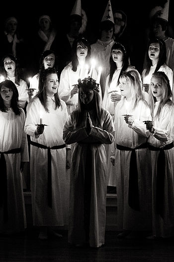 Saint Lucy's Day (Lucia). Singing. Sweden, 2007.