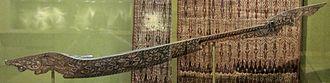 Sultanate of Sulu - A kutiyapi (lute) from Mindanao bearing Ukkil motifs.