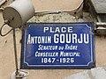 Lyon 2e - Place Antonin Gourju - Plaque (mars 2019).jpg