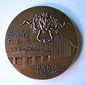 Médaille 80e anniversaire du Syndicat des ouvriers Monnaie de Paris Pessac 1899-1979. Graveurs J-P GENDIS et D. GEDALGE (2).JPG