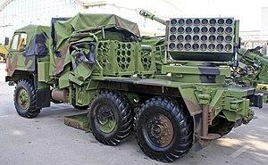 M-63 Plamen - M-94 Plamen-S self-propelled multiple rocket launcher of Serbian Army.