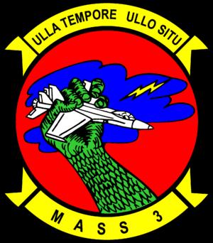 Marine Air Support Squadron 3 - Image: MASS 3 squadron insignia