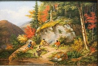 Chippewas Hunting Caribou