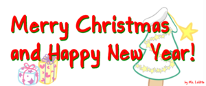 English: Merry Christmas and Happy New Year! E...