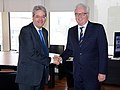 MFA Paolo Gentiloni with Amb Vitaly I. Churkin, PR of the Russian Federation to the UN.jpg
