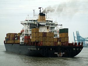 MSC Hailey p1, at Port of Antwerp, Belgium 23-Dec-2005.jpg