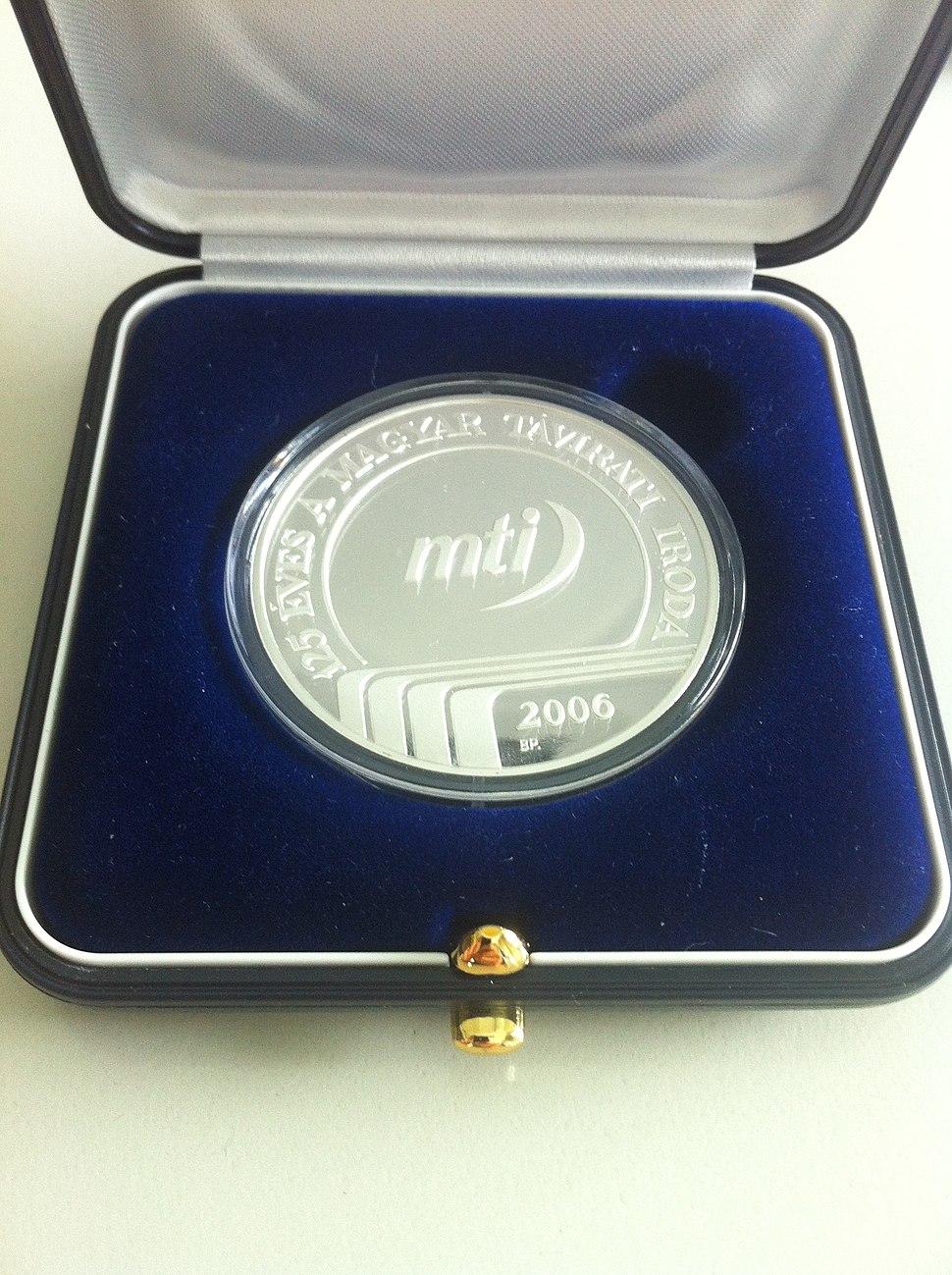 MTI Commemorative Medal, Budapest 2006.jpeg