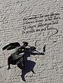 Maastricht - Achter de Oude Minderbroeders - 2015 - engel door Anke van Kooten met gedicht van Henri Looymans.jpg