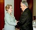 Madeleine Albright and Yitzhak Mordechai at the Laromme Hotel.jpg
