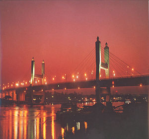 Maha Bandula - Maha Bandula Bridge in Downtown Yangon